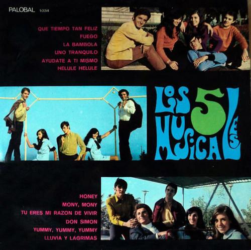 5 MUSICALES, LOS - Que Tiempo Tan Feliz (LP Palobal 1968)