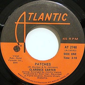 CLARENCE CARTER - Patches / Say It One More Time (SG Atlantic 1970)