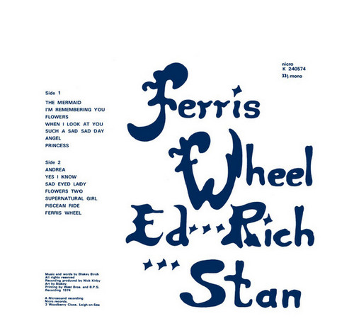 FERRIS WHEEL – Supernatural Girl (LP,RE Nicro 1974,2014) 1