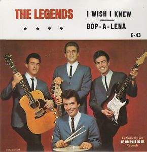 LEGENDS, THE - I Wish I Knew / Bop-A-Lena (SG,RE Ermine 1962)