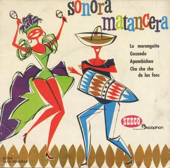 SONORA MATANCERA & CELIA CRUZ & CARLOS ARGENTINO - En Caracas: La Merenguita / Gozando / Apambichao / Cha Cha Cha de los Feos (EP Seeco Discophon 1961)